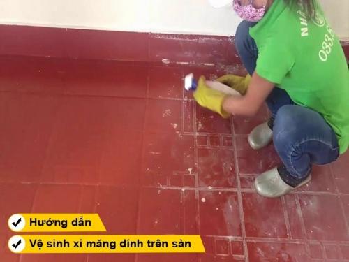 Hướng dẫn cách tẩy xi măng dính sàn dính sàn gạch