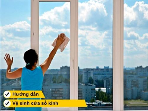 Hướng dẫn cách vệ sinh cửa sổ kính sạch nhanh chóng