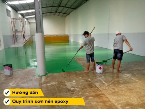 Hướng dẫn quy trình thi công sơn nền epoxy