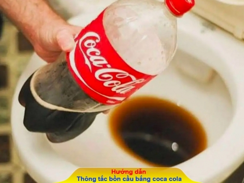 Hướng dẫn cách thông tắc bồn cầu bằng coca