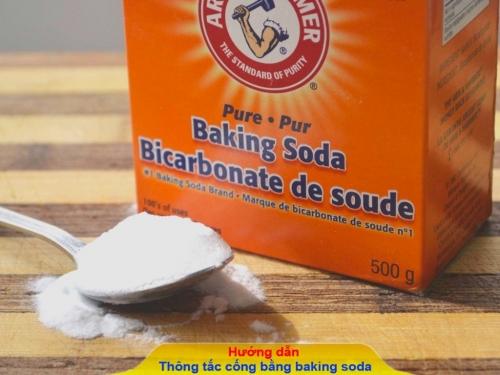 Hướng dẫn cách thông tắc cống bằng baking soda