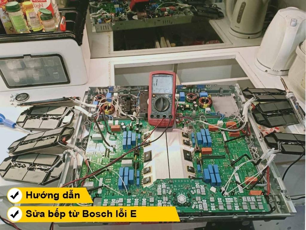 Hướng dẫn cách sửa bếp từ Bosch lỗi E