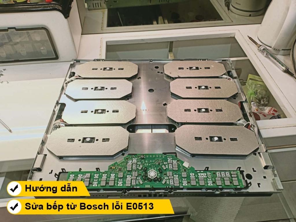 Hướng dẫn cách sửa bếp từ bosch lỗi E0513